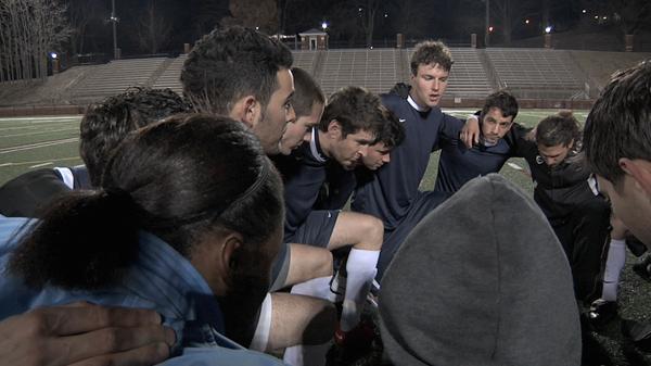 Lindenwood Friendship Cup team huddle