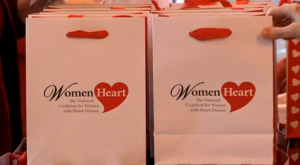 womans heart bag