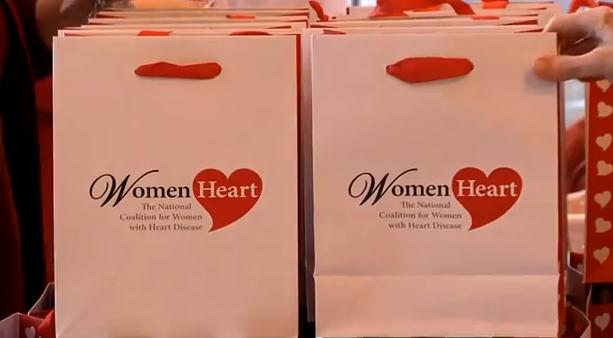 womans heart bag