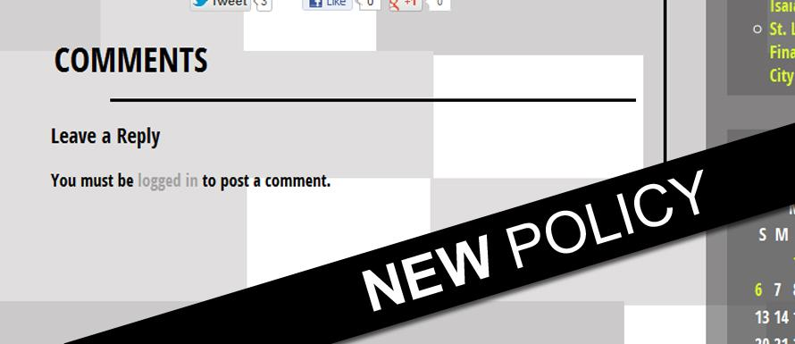 new comment policy