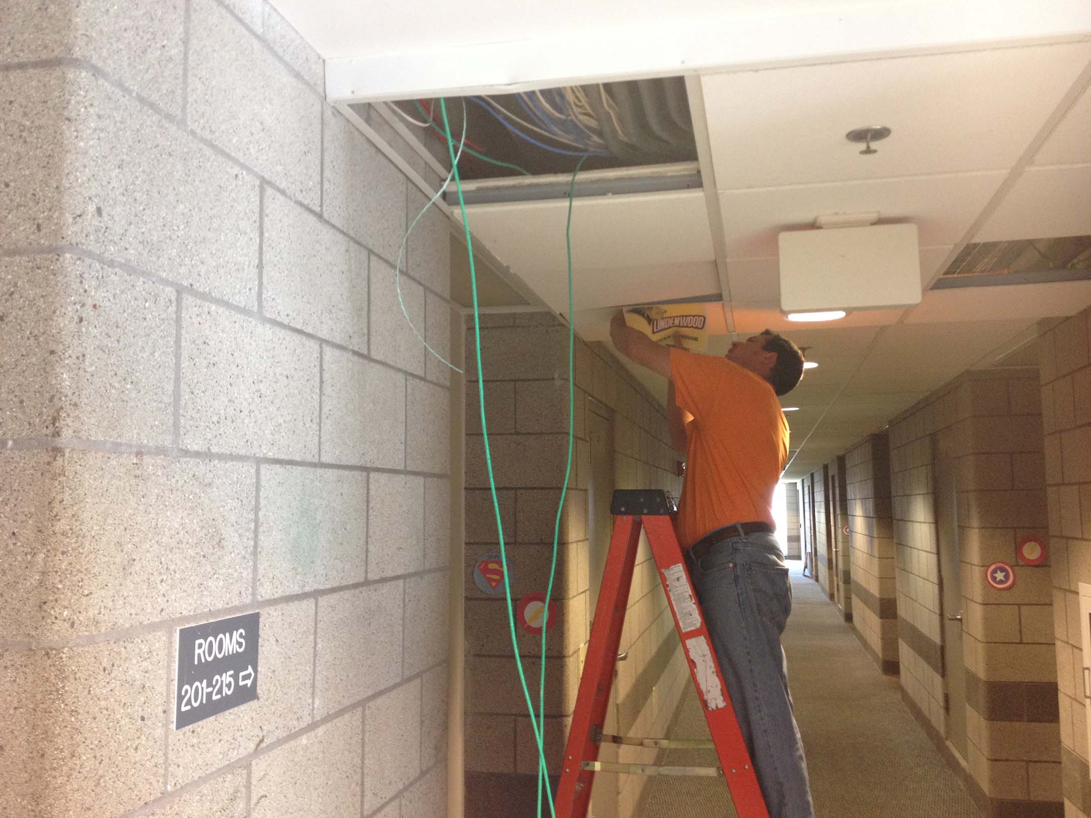 LU Maintenance installs new routers in Guffey Hall