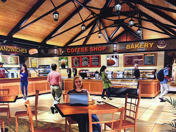 The food options for the new pavilion would include offers from national brands.  Photo provided by Pedestal Foods