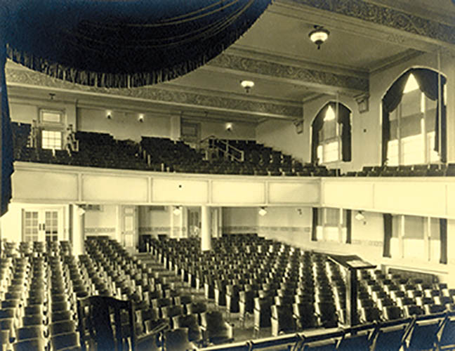 Photo from the Lindenwood University archives Jelkyl Theater in the 1920s, when it was known as Roemer Auditorium