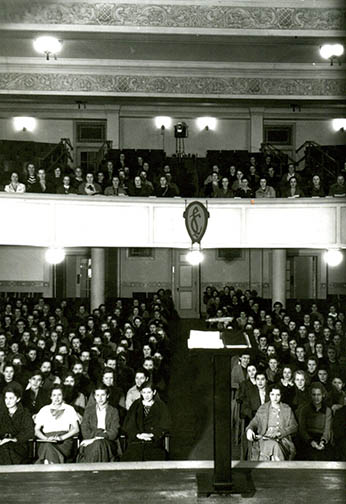 Photo from the Lindenwood University archives A view from the Jelkyl stage when LU was still an all-girls school