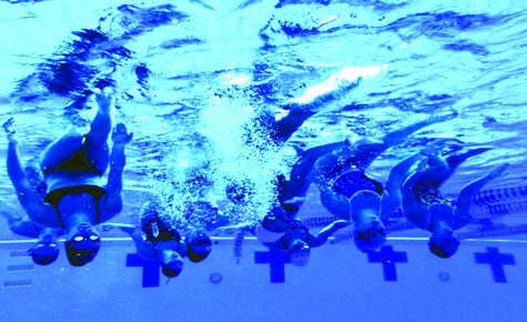 Synchro swim team prepares for opening meet