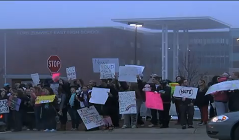 Westboro Baptist Church Protests at Fort Zumwalt East