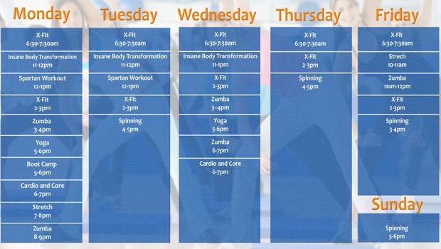 LU+Evans+Commons+Fitness+Class+Schedule
