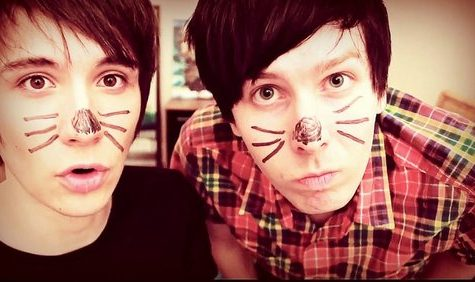 Picture of Dan and Phil from thekidswiththehair's Tumblr blog.