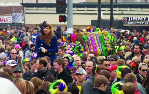 The crowd at the Soulard Mardi Gras celebration which is the second largest in the nation.  photo by Jaime Fernandez