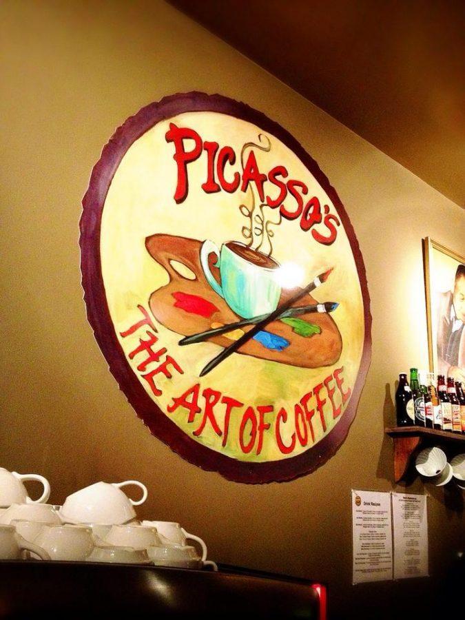 Picassos Coffee Shop logo Photo courtesy of Sanami Iwasaki