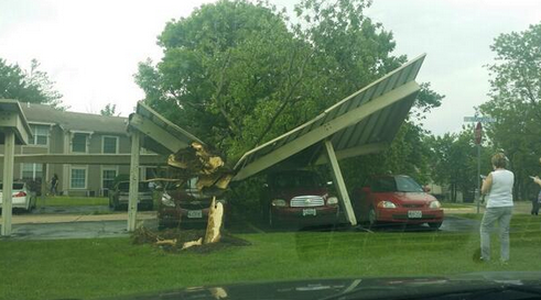 Storm damages in St. Charles County