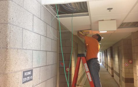LU Maintenance installs new routers in Guffey Hall