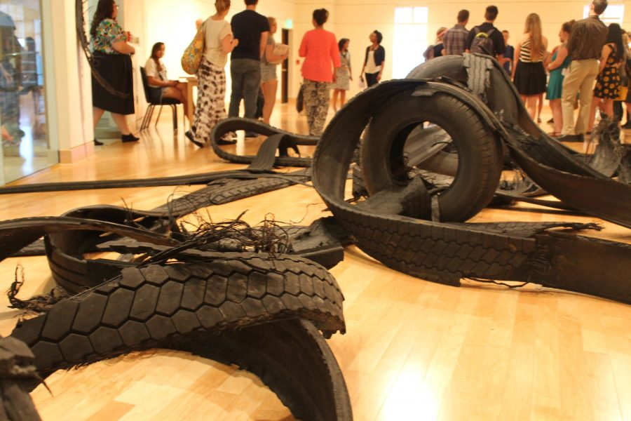 Rubber+tires+were+used+to+construct+this+exhibition