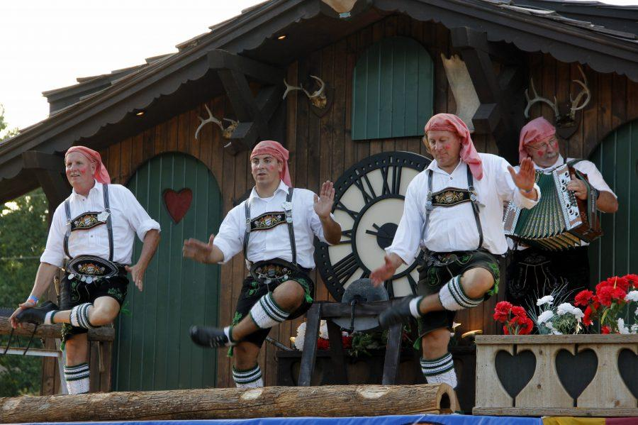 Authentic German costumes could be seen on the dancers performing at Oktoberfest in 2014.  Photo by Romane Donadini