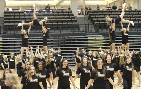 The LU spirit squad gave a performance in Hyland Arena that got the audience ready for Saturday's football game.