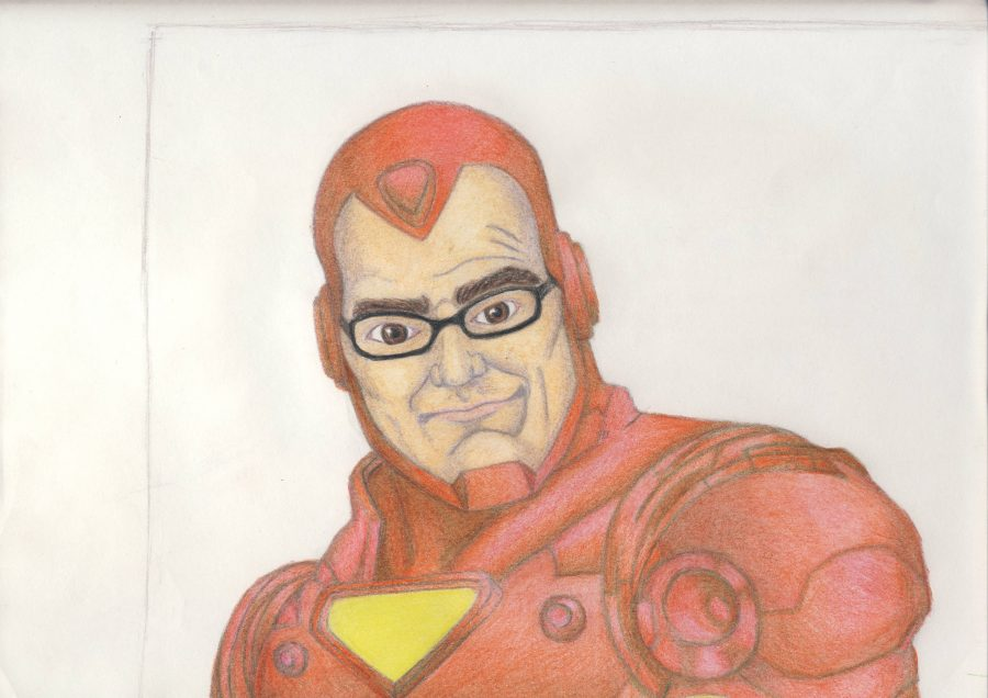 Rosemann imagined as Iron Man Drawing by Dakota Shaw