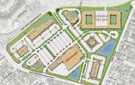 graphic from nextstl.com The original layout plan for the University Commons; the assisted-living facility is planned to take place of the