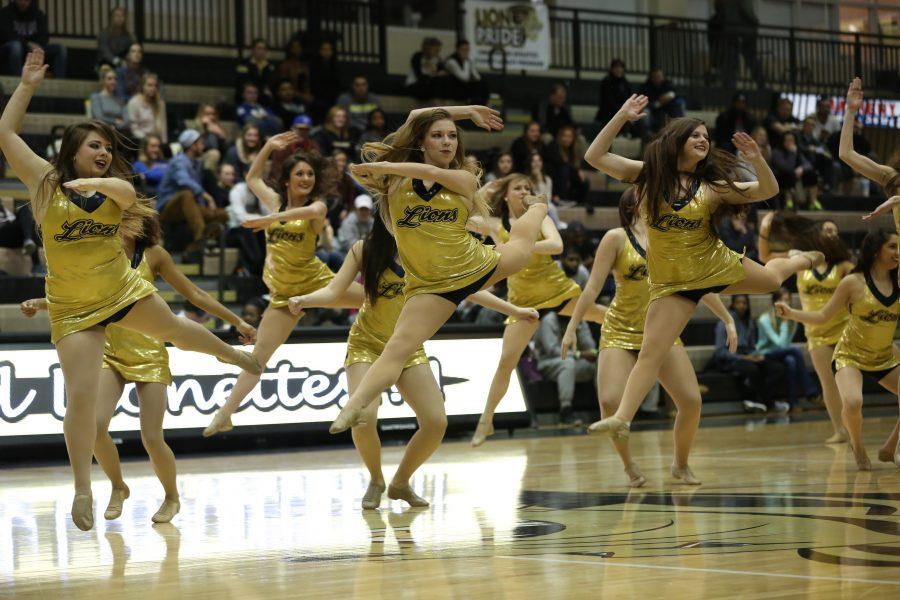 Lindenwood's dance team performed a routine as part of the half time entertainment in the game against MSSU.