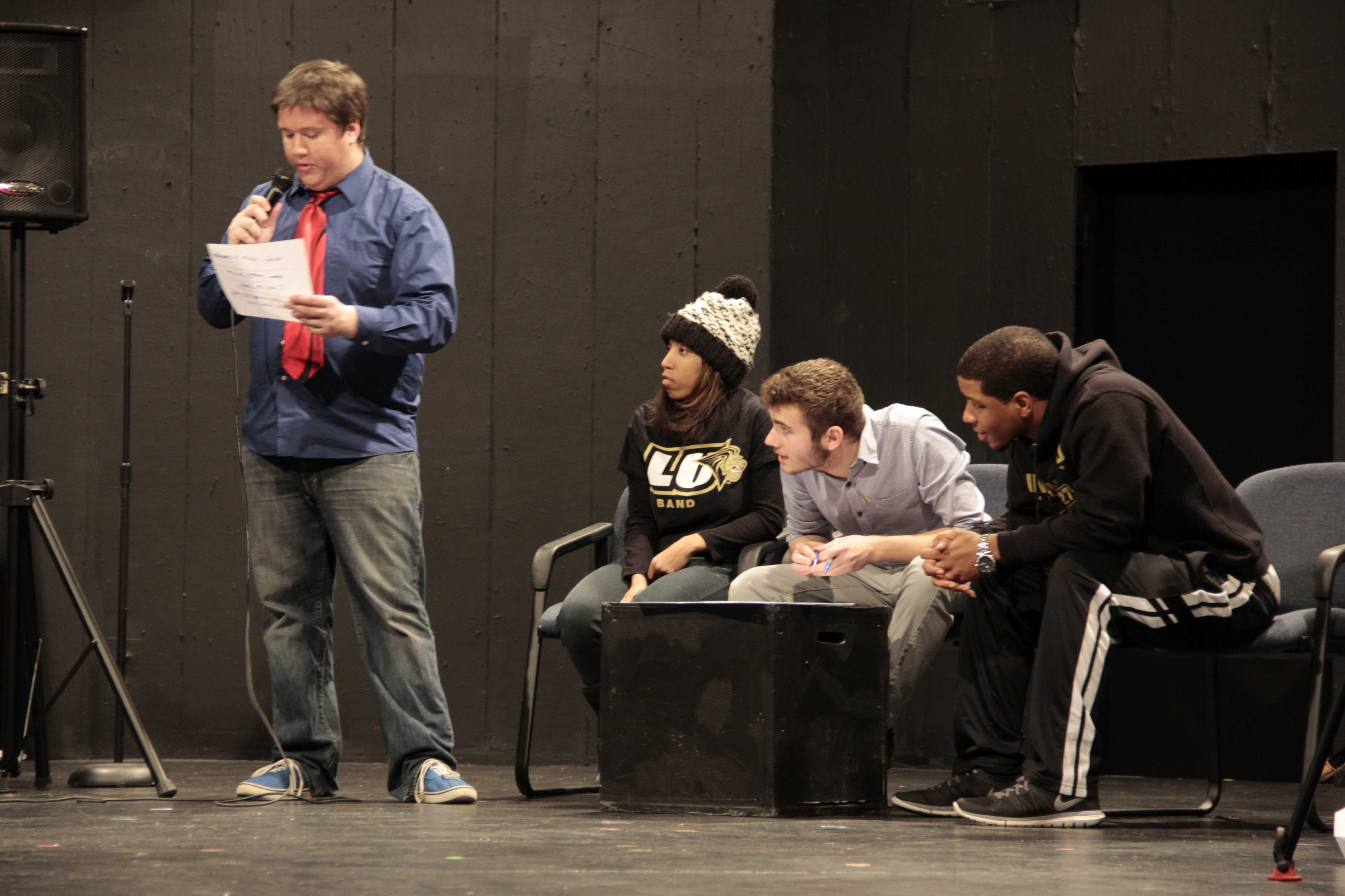 photo by Essi Virtanen Fritz pulls of a successful  hosting gig at Phi Mu Alpha's game show event