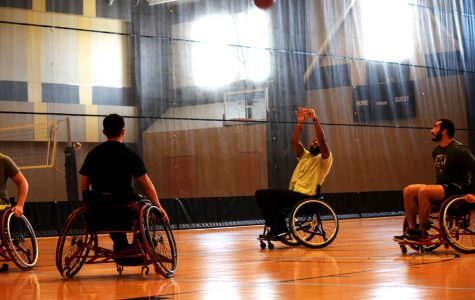 Photo by Isis Wadleigh Adaptive Sports students offered opportunities to learn sports like wheelchair basketball.