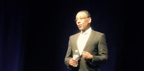 Actor Giancarlo Esposito addresses Lindenwood University students