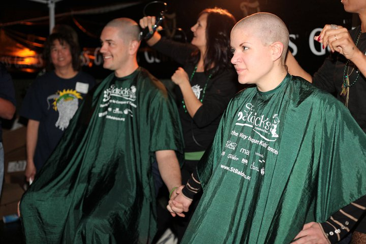 Photo+by+Amanda+DeBerry%0ALocal+volunteers+shave+their+heads+to+raise+awareness+for+childhood+cancer.