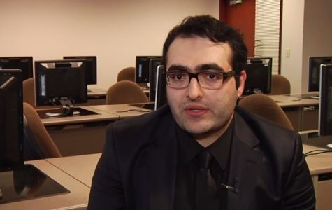 Screenshot of Caitlin Baker's LUTV footage Mahir Zeynalov discusses journalists' rights in Turkey