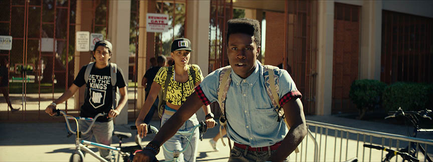 (From left) Tony Revolori, Kiersey Clemons and Shameik Moore in 'Dope'