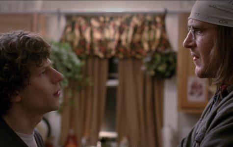 Photo from epk.tv David Lipsky (Jesse Eisenberg) and David Foster Wallace (Jason Segel) in the most epic staring contest in cinematic history in
