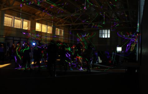 Photo by  Mai Urai Delta Tau Delta's electronic dance concert featured a synchronized light show.