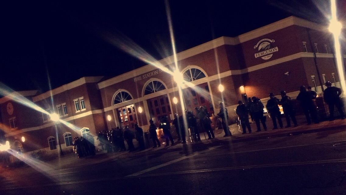 Photo submitted by Daniela Tablante  Photo of Ferguson Police Station during initial outbreak