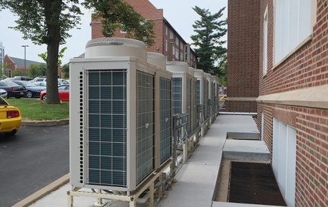 Photo by Nao Enomoto <br> Within a years time, Sibley may get air conditioning units like these recently installed at Irwin Hall.