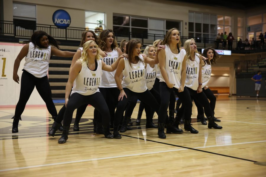 Photo by Carly Fristoe Delta Zeta, shown near the end of their highly choreographed Lip Sync Contest set