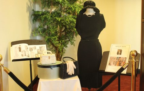 Photo by Mai Urai This display paid tribute to female fashion pioneer and LU alumna Nelly Don