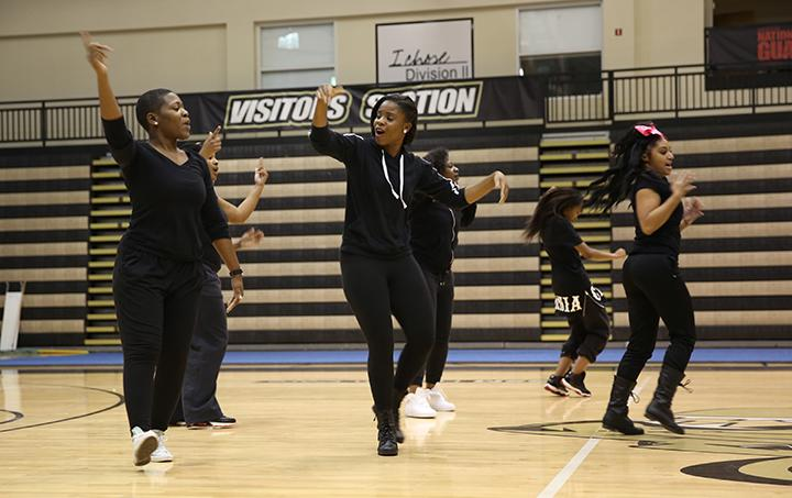 The Black Student Union's routine included several popular rap and hip hop songs.