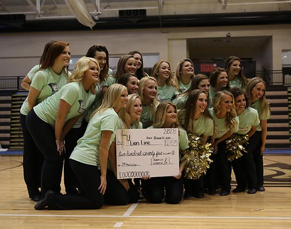The Lion Line placed second in the 2015 Lip Sync contest.