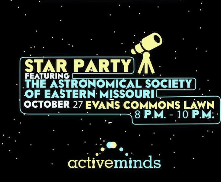 Graphic from Facebook A promo for Active Minds' Star Party