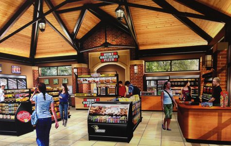 The new plans involve closing off the pavilion and adding a convenience store.<br> Photo provided by Pedestal Foods