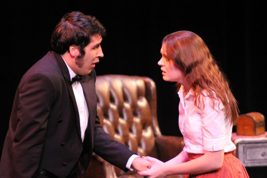 Photo by Mai Urai Will Pendergast and Megan Wiegert play an argumentative couple in 'A Marriage Proposal'