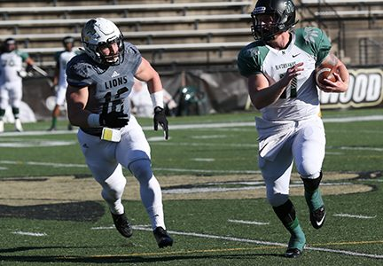 Connor Harris sets MIAA, NCAA tackle records in football's season-ending loss