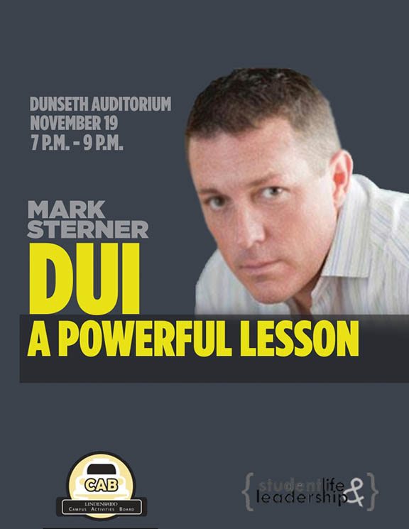Photo from CAB An ad for Mark Sterner's DUI: A Powerful Lesson
