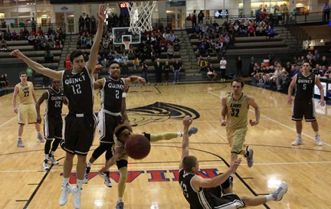 Men's basketball blown out by Quincy