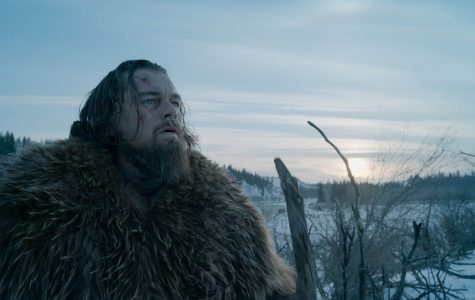 Photo from epk.tv Hugh Glass (Leonardo DiCaprio) overlooks his wintry obstacles in
