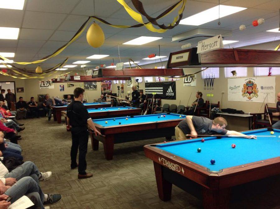 The+Lindenwood+Billiards+team+hosts+a+tournament++earlier+this+year.++Photo+taken+from+Lindenwood+Billiards+Facebook+Page
