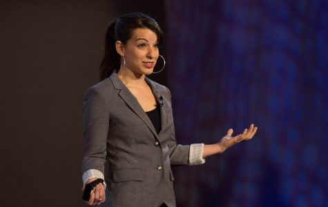 Photo courtesy of Ryan Lash from Flickr.com Sarkeesian speaks at the TEDxWomen speaker series in Washington D.C December 1st.