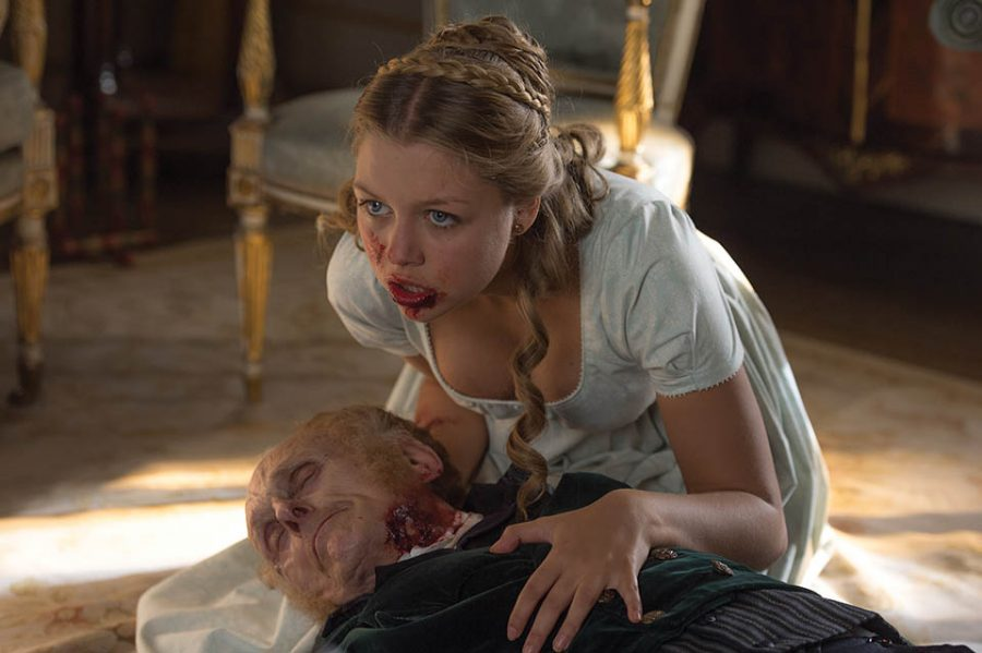 Photo courtesy of Screen Gems A zombified Annabelle (Jess Radomska) feeds off her own grandfather in