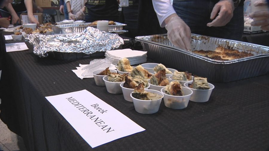 Photo by Phil Brahm A smorgasbord of international foods offered by ISF on Sibley Day.