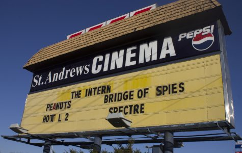 Photo by Sandro Perrino St. Andrews Cinema's iconic billboard has advertised its weekly film selection for years.
