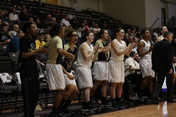 The Lindenwood women's basketball team