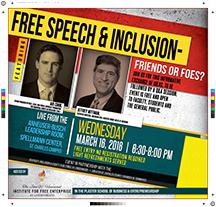 Business school to host free speech event
